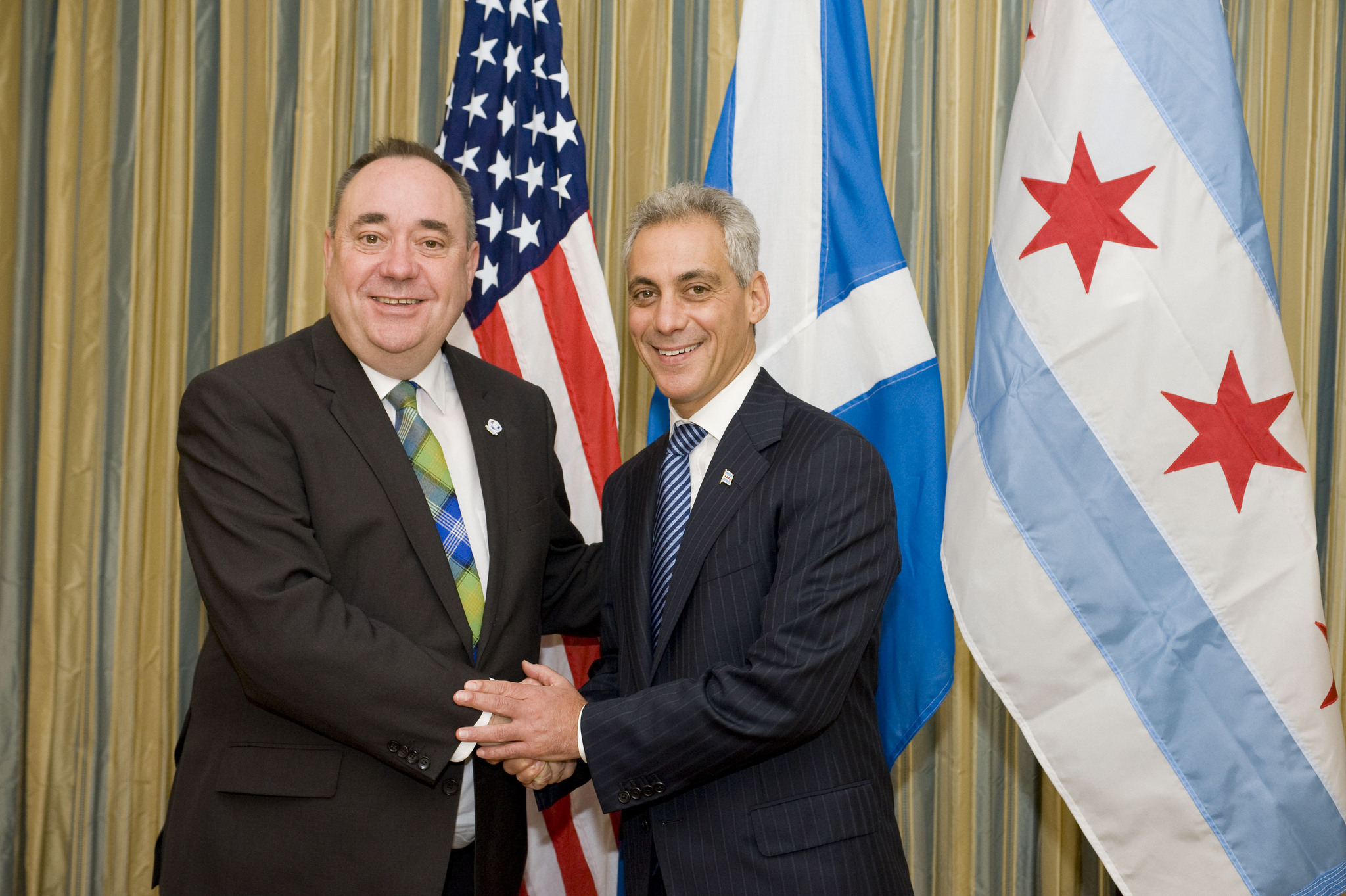 First Minister Salmond and Chicago Mayor Rahm Emanuel